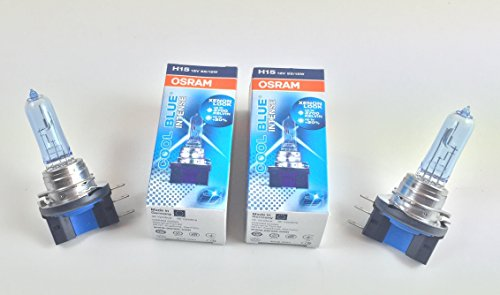 2 x OSRAM H15 COOL BLUE INTENSE 64176CBI 12V 55/15W XENON LOOK MADE IN GERMANY