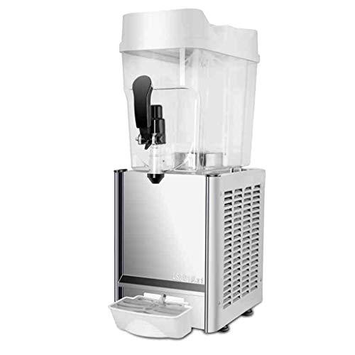 JCOCO commerciële drankautomaat - Dubbel koud en warm gebruik - LED-lichteffect - Automatische reiniging functie - koude dranken machine Margarita van roestvrij staal - 18L single cold Spray Type