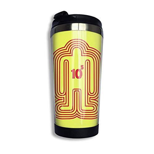 Ahdyr Taza de café de Viaje de Acero Inoxidable, Doshin The Giant Red Ver. Taza de Viaje Taza de café Vaso Aislado al vacío de Acero Inoxidable 13.5 oz
