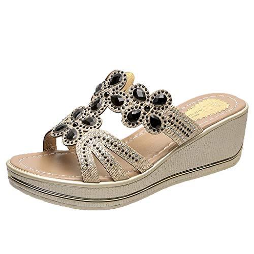 Chaussures Femme Été Sandales Compensées Femmes...
