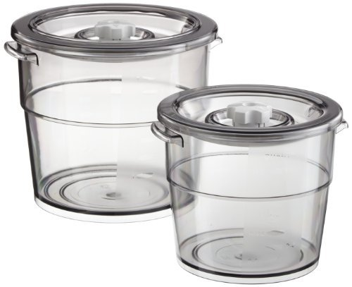 """Rommelsbacher VCR 600â€""""Vakuumier Round Container Set 2l and 4l by Rommelsbacher"""