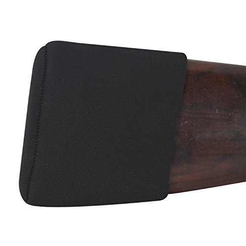 TOURBON Neoprene Shotgun Recoil Reduction Adjustable Slip On Recoil Pad (Medium, Black)