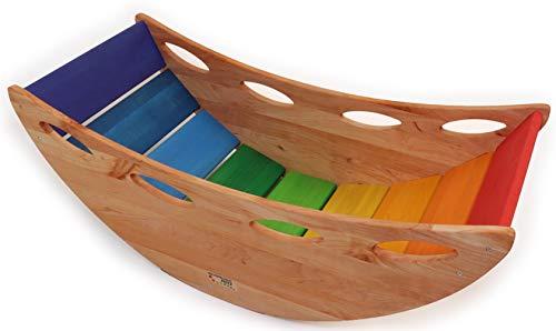 Bunte Kinder-Baby-Wippe 8070 - Kleinkind-Kletter-Brücke - Holz - Babyschaukel