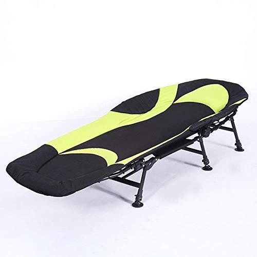 Home outdoor/Aluminium extérieur pliant Recliner Plage Portable Chaise Camp Bed (Color : Green)