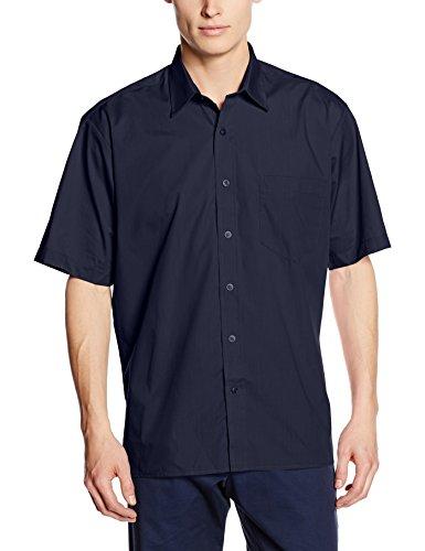 Premier Workwear Premier Popelin Herren Hemd, kurzärmlig (Kragenweite 47cm) (Marineblau)