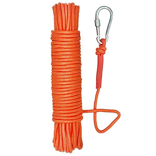 UTOMAG Magnet Fishing Nylon Rope, 65 Feet All Purpose High Strength Cord Braid Rope