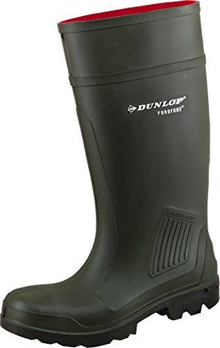 Dunlop 45502 Gummistiefel Purofort S5 Oliv (45, Gummistiefel)