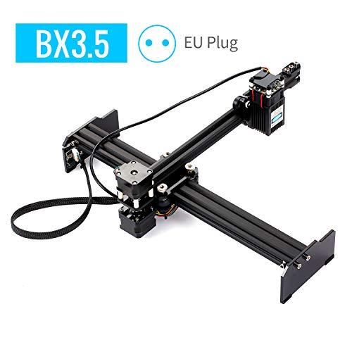 Grabador de computadora,Baugger- 3.5W Máquina de grabado de alta velocidad Mini impresora de grabadora de escritorio Hogar portátil Arte del arte DIY Cortador de grabado