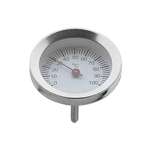 WMF Vitalis Thermometer groß, Ersatzteil für Dampfgarer Glasdeckel rund, Cromargan Edelstahl poliert, backofenfest