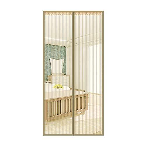 Muggennet met magneetsluiting, standaard voor ramen, voor deuren en deuren van Frankrijk, schuifdeuren, garage, balkoni, visserij, super transparant, geel, 80 x 210 cm (31 x 83 inch).