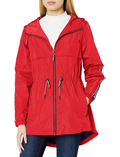 Tommy Hilfiger Damen Jacke Anorak Logo Sleeve Taping -  Rot -  Medium