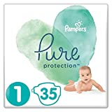 Pampers Pure Protection Windeln, Größe 1, 35 Windeln, 2-5 kg, Tragepack