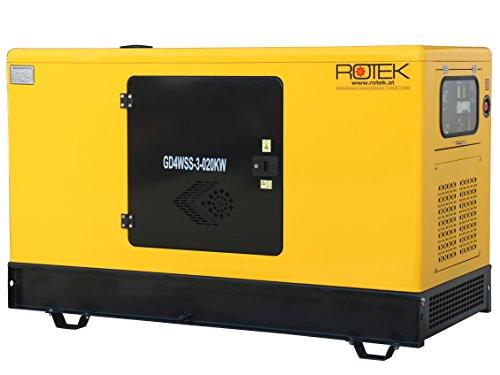 Rotek Schallgedämmter Stromerzeuger 20kW 400V 50Hz 3-phasig mit wassergekühltem 4-Zylinder Dieselmotor