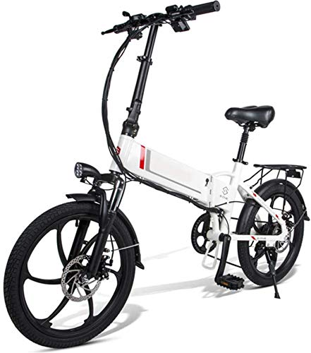 Alta velocidad Bicicletas eléctricas for Adultos de aleación de magnesio eléctrica plegable Bicicletas Todo Terreno 48v 350w 10,4 Ah y 25 Km / h extraíble de iones de litio de la montaña E-bici for Ho