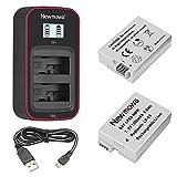 Newmowa LP-E8 Batería de Repuesto (Paquete de 2) y Cargador USB Dual...