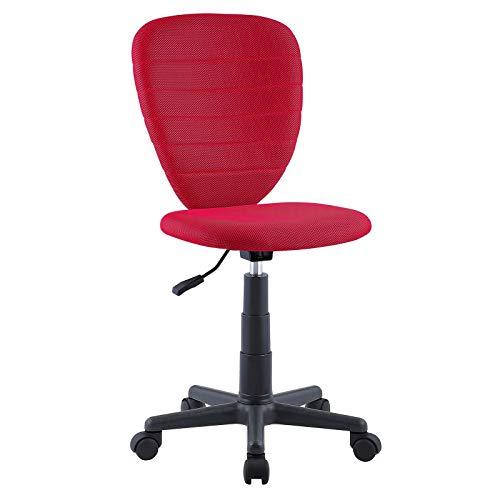 CARO-Möbel Kinderdrehstuhl Discovery Schreibtischstuhl Drehstuhl in rot, höhenverstellbar