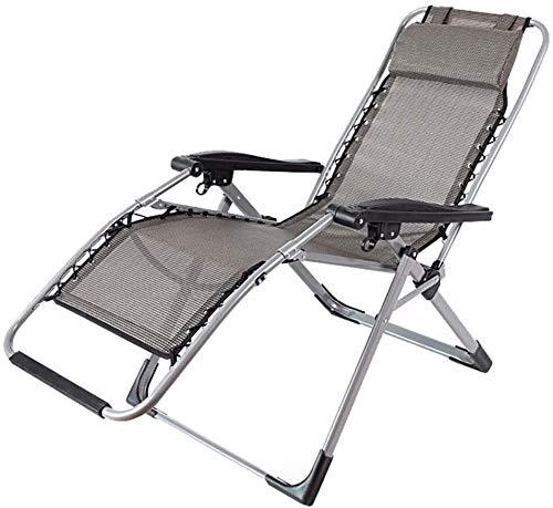 Silla de playa plegable 90 a 155 grados al aire libre ajustable Silla reclinable con la almohadilla cómodo respirable fresco duradero respetuoso del medio ambiente for el balcón Apartamento Oficina