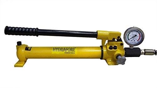 HYDRAFORE Hydraulische Handpumpe (700 Bar, 350 cm3) mit Manometer