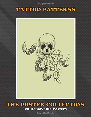 Poster Collection: Tattoo Patterns Skull Octopus Tattoo Pattern Contemporary Art