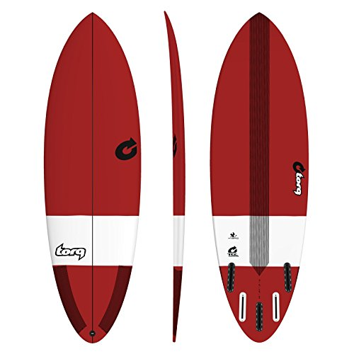 TORQ Hybrid Epoxy Tec - Tabla de surf, rojo, talla única
