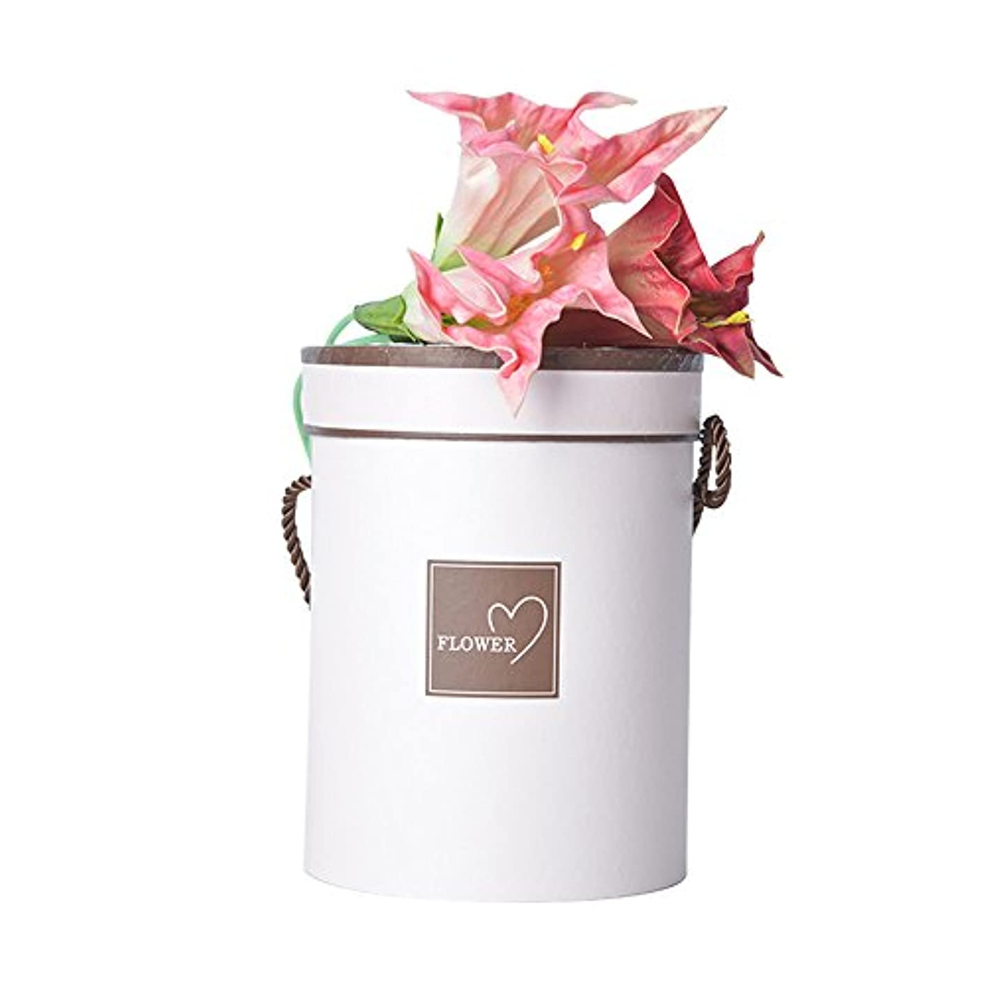 Gift Packaging Paper Box Decorating Round White Florist Box 1 Pcs