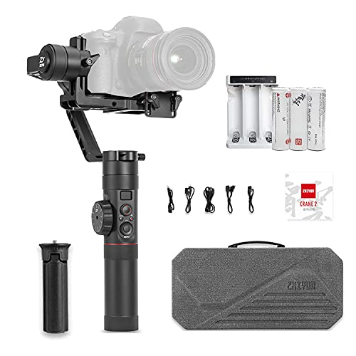 Zhiyun Crane 2 [Official] Handheld Gimbal Stabilizer for DSLR &Mirrorless Camera Like Sony A7M3 A7R3 A7 III A9 Nikon...