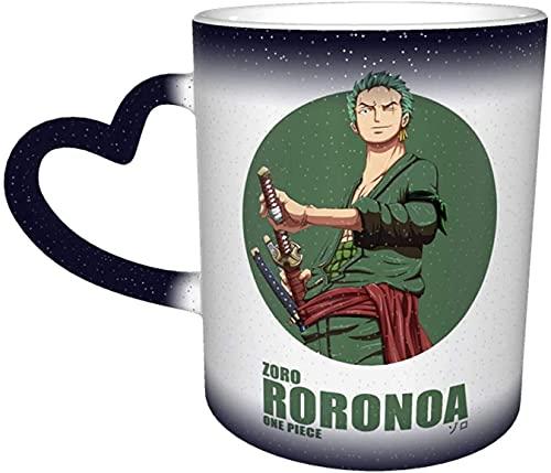 Beets Tazas de café sensible al calor One Roronoa Zoro P-I-E-C-E tazas mágicas