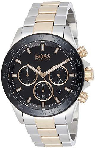 Hugo Boss Herren Chronograph Quartz Uhr mit Edelstahl Armband 1513757