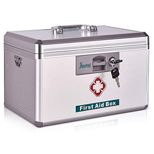 Jssmst Locking Medicine Box with Storage