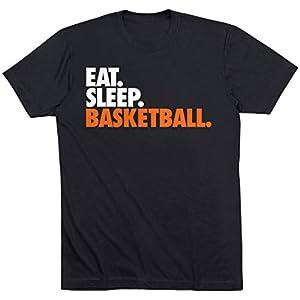 Eat. Sleep. Basketball. Adult T-Shirt | Basketball Tees by ChalkTalk Sports | Multiple Colors | Adult Sizes