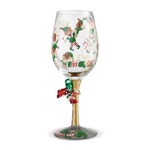 Lolita, Copa de vino con dibujos de elfos y decoración, Enesco