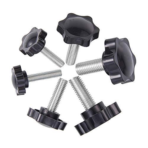 INCREWAY 24 Piezas Perilla de estrella, 3 Tamaño (M6/M8/M10) Negro plástico Tornillo de Mano moleteado roscado Perilla de sujecion perilla de la máquina herramienta