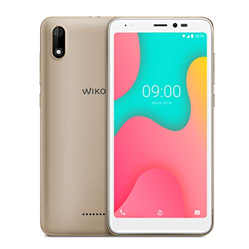 WIKO Y60, 16GB+1GB Smartphone 5,45 Zoll (13,8cm) 18:9 Display, 4G, Android 9.0 Pie Go, Gold
