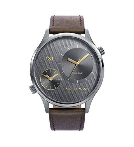 Reloj Mark Maddox caballero correa piel marrón.HC0108-16