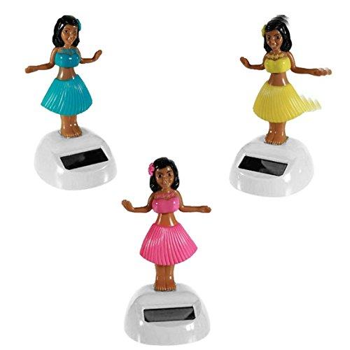 Solar Wackel Figur, Hula-Girl, Hawaii, Mädchen, ideal für die Fensterbank, Auto, Büro, Schreibtisch, einfach süss...! Wichtelgeschenk, Adventskalender, Adventskalenderbefüllung (Hula-Girl)