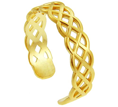 10k Yellow Gold Trinity Knot Celtic Toe Ring