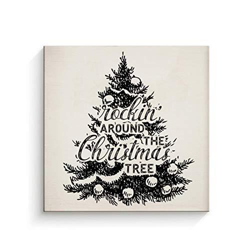 Árbol mecedor Carteles navideños Bobys Pinturas en Lienzo Arte de Pared Impresiones imágenes...