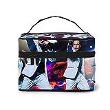 Backstreet Jungen Make-up-Tasche, wasserdichte Kosmetiktasche mit goldenem Reißverschluss, tragbare...
