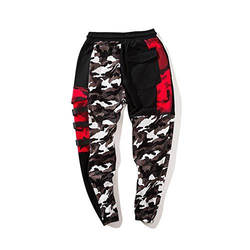 TUOP Color Block Patchwork Camo Jogger Broek Heren Hip Hip Streetwear Cargo Broek