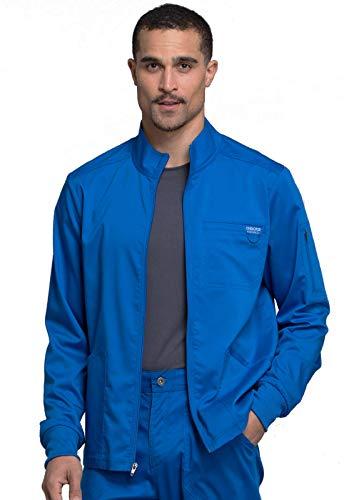 CHEROKEE Workwear WW Revolution Men's Men's Zip Front Jacket, WW320, S, Royal