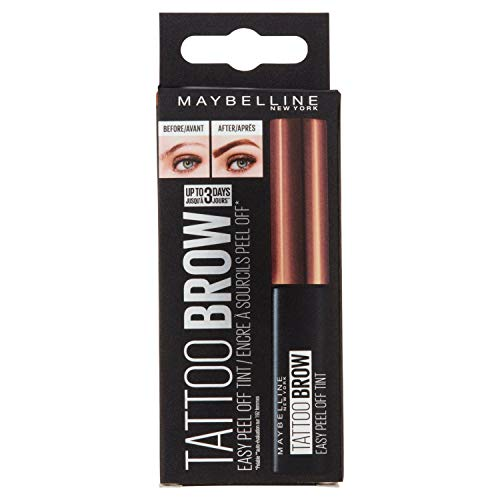 Maybelline New York Augenbrauenfarbe, Tattoo Brow Gel Tint, Mit Peel-off-Formel, Nr. 1 Light Brown, 5 ml