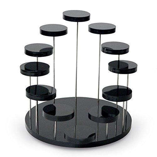 Espeedy 12 Fach Schmuck Display Stand Klaren Acryl Veranstalter Ring Ohrring Armband Halskette Zeigen Halter Rack Regal Werkzeug