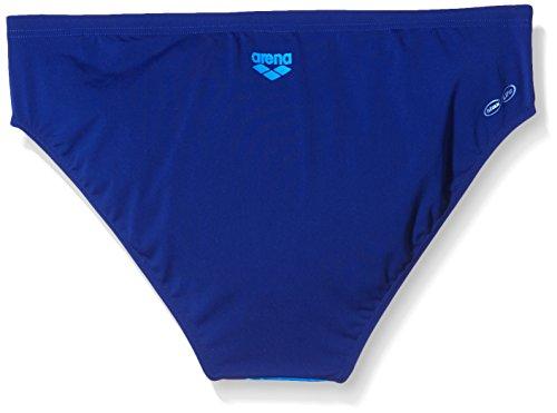 Arena M Drafty Brief - Costume da Bagno da uomo, Navy/Turquoise, IT: 52 (Taglia Produttore: 95)