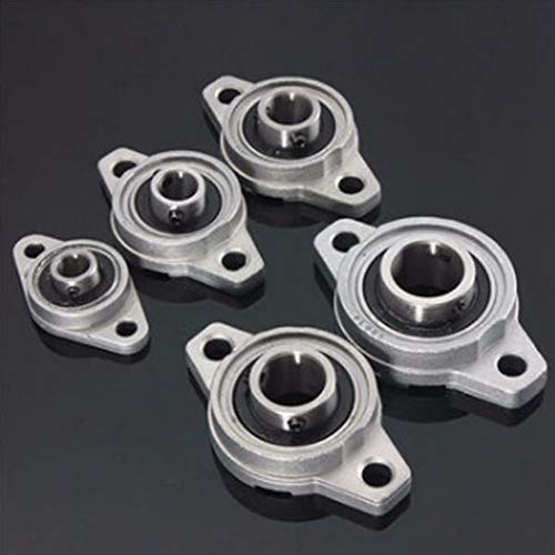 Rodamientos de Block, 8/10 / 12/15/17 mm Diámetro de aleación de zinc Almohada bloque brida de apoyo de la serie KFL (Size : KFL08 8mm)