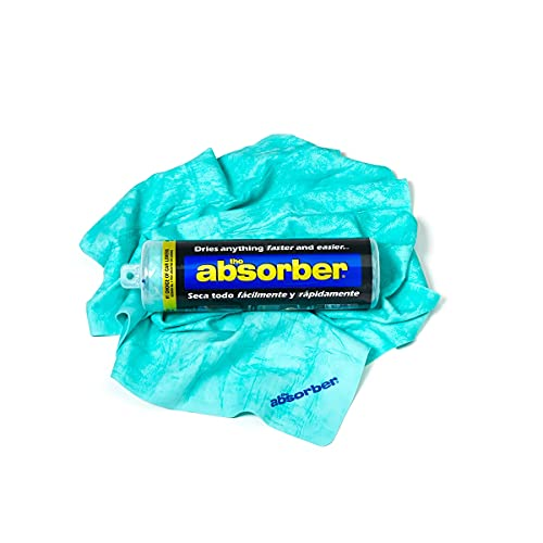 """Clean Tools 46149 The Absorber Synthetic Drying Chamois, 27"""" x 17"""", Aqua"""