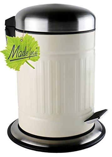 Made for us 3 L Retro Tret-Abfalleimer 50er-Jahre Mülleimer nostalgie Bad-Eimer 3 Liter Kosmetik-Eimer für Badezimmer oder Gästeklo