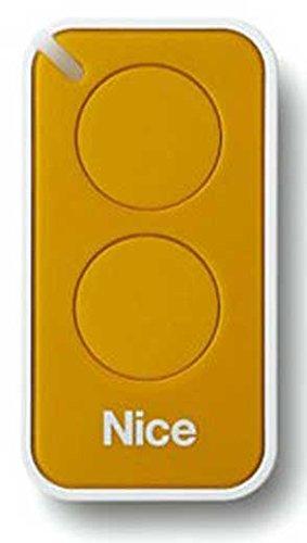 Nice Era-Inti telecomando originale 2 tasti 433,92 Mhz rolling code sostituisce radiocomando Nice Very VR - ONE ON1 ON2 e FLOR FLO2R-S FLO1R-S apricancello (giallo)