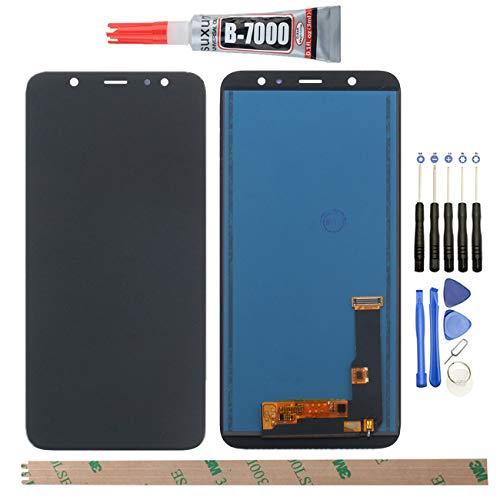 YHX-OU 6,3 Pulgadas para Samsung Galaxy A6 Plus 2018 A605 A6+ 2018 A605F A605FN A605G A605K de reparación y sustitución LCD Display Touch Screen Digitizer+ con Herramientas Incluidas (Negro)