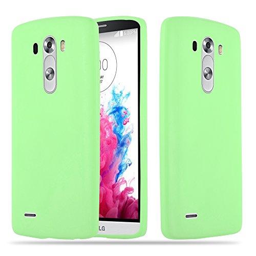 Cadorabo Funda para LG G3 en Candy Verde Pastel - Cubierta Proteccíon de Silicona TPU Delgada e Flexible con Antichoque - Gel Case Cover Carcasa Ligera