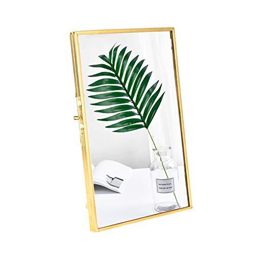 Feyarl Metall Bilderrahmen Antike Messing Klarglas Fotorahmen Gold